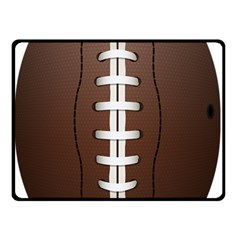 Football Ball Double Sided Fleece Blanket (small)  by BangZart