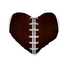 Football Ball Standard 16  Premium Flano Heart Shape Cushions by BangZart