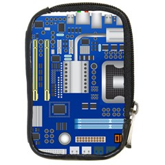 Classic Blue Computer Mainboard Compact Camera Cases