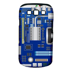 Classic Blue Computer Mainboard Samsung Galaxy S Iii Classic Hardshell Case (pc+silicone)