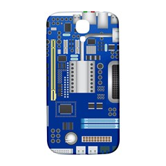 Classic Blue Computer Mainboard Samsung Galaxy S4 I9500/i9505  Hardshell Back Case by BangZart
