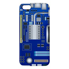 Classic Blue Computer Mainboard Iphone 5s/ Se Premium Hardshell Case by BangZart