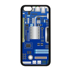 Classic Blue Computer Mainboard Apple Iphone 5c Seamless Case (black) by BangZart