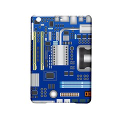 Classic Blue Computer Mainboard Ipad Mini 2 Hardshell Cases