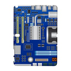 Classic Blue Computer Mainboard Galaxy Note 1 by BangZart