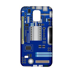 Classic Blue Computer Mainboard Samsung Galaxy S5 Hardshell Case  by BangZart