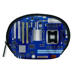 Classic Blue Computer Mainboard Accessory Pouches (medium)