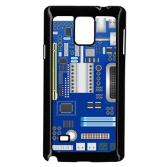 Classic Blue Computer Mainboard Samsung Galaxy Note 4 Case (black) by BangZart