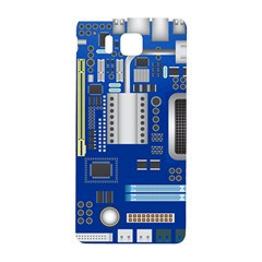 Classic Blue Computer Mainboard Samsung Galaxy Alpha Hardshell Back Case by BangZart