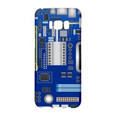 Classic Blue Computer Mainboard Samsung Galaxy S8 Hardshell Case
