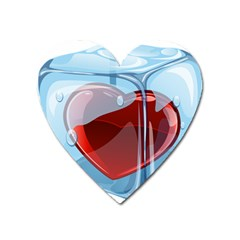 Heart In Ice Cube Heart Magnet by BangZart