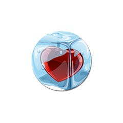 Heart In Ice Cube Golf Ball Marker (4 Pack) by BangZart