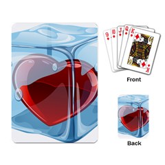Heart In Ice Cube Playing Card