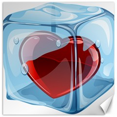 Heart In Ice Cube Canvas 12  X 12   by BangZart