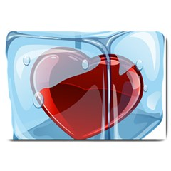 Heart In Ice Cube Large Doormat  by BangZart