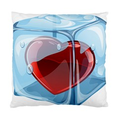 Heart In Ice Cube Standard Cushion Case (two Sides)