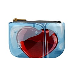 Heart In Ice Cube Mini Coin Purses