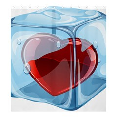 Heart In Ice Cube Shower Curtain 66  X 72  (large)  by BangZart