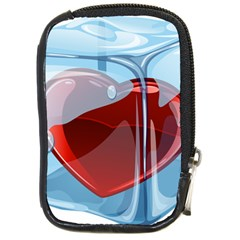 Heart In Ice Cube Compact Camera Cases by BangZart