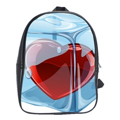 Heart In Ice Cube School Bags(large)  by BangZart