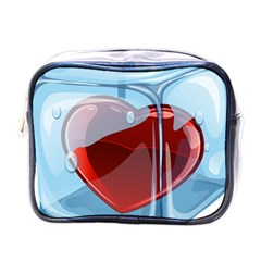 Heart In Ice Cube Mini Toiletries Bags by BangZart