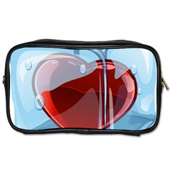 Heart In Ice Cube Toiletries Bags by BangZart