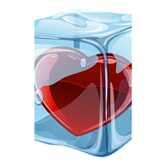 Heart In Ice Cube Shower Curtain 48  X 72  (small)  by BangZart