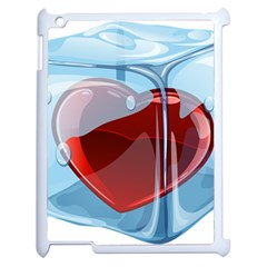 Heart In Ice Cube Apple Ipad 2 Case (white) by BangZart