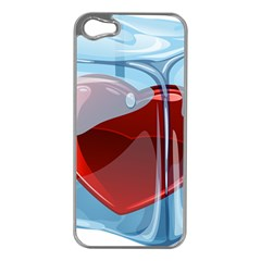 Heart In Ice Cube Apple Iphone 5 Case (silver) by BangZart