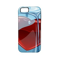 Heart In Ice Cube Apple Iphone 5 Classic Hardshell Case (pc+silicone)