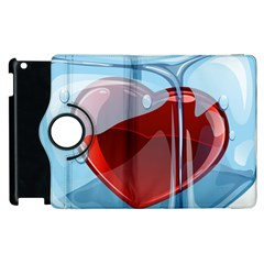 Heart In Ice Cube Apple Ipad 2 Flip 360 Case by BangZart