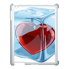Heart In Ice Cube Apple Ipad 3/4 Case (white) by BangZart