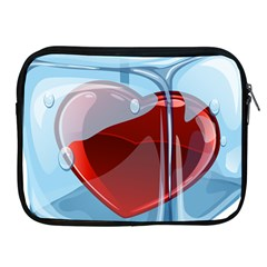 Heart In Ice Cube Apple Ipad 2/3/4 Zipper Cases