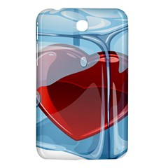 Heart In Ice Cube Samsung Galaxy Tab 3 (7 ) P3200 Hardshell Case  by BangZart