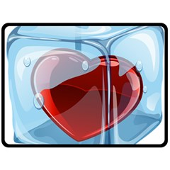 Heart In Ice Cube Double Sided Fleece Blanket (large)  by BangZart