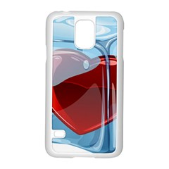 Heart In Ice Cube Samsung Galaxy S5 Case (white)