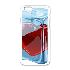Heart In Ice Cube Apple Iphone 6/6s White Enamel Case by BangZart