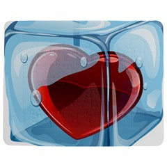 Heart In Ice Cube Jigsaw Puzzle Photo Stand (rectangular)