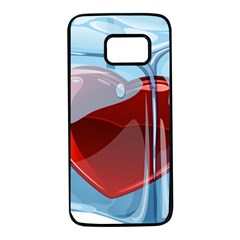 Heart In Ice Cube Samsung Galaxy S7 Black Seamless Case