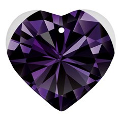 Amethyst Ornament (heart) by BangZart