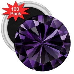 Amethyst 3  Magnets (100 Pack) by BangZart