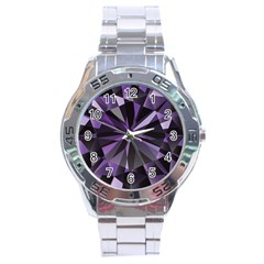 Amethyst Stainless Steel Analogue Watch by BangZart