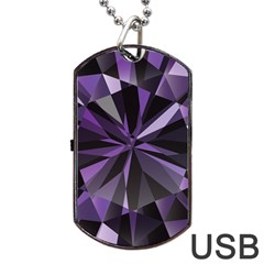 Amethyst Dog Tag Usb Flash (two Sides) by BangZart
