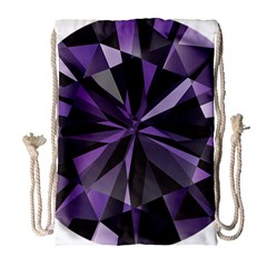 Amethyst Drawstring Bag (large) by BangZart
