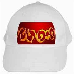 Easter Decorative Red Egg White Cap by BangZart