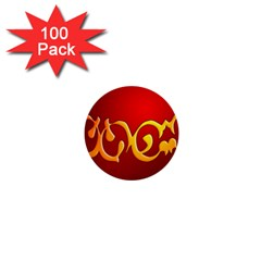 Easter Decorative Red Egg 1  Mini Buttons (100 Pack)