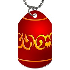 Easter Decorative Red Egg Dog Tag (two Sides) by BangZart
