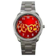 Easter Decorative Red Egg Sport Metal Watch by BangZart