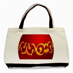 Easter Decorative Red Egg Basic Tote Bag by BangZart