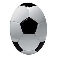 Soccer Ball Ornament (oval) by BangZart